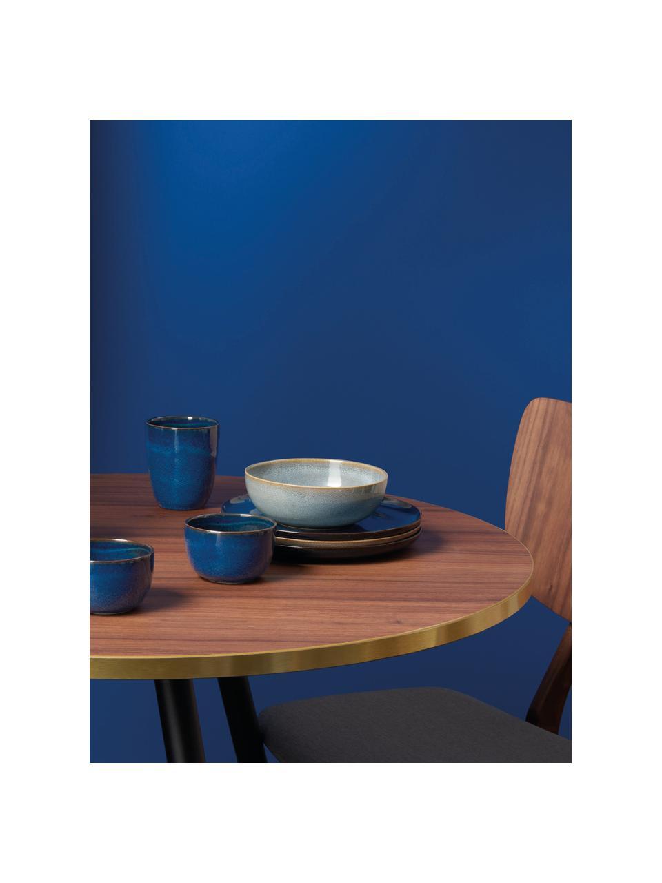 Schälchen Saisons aus Steingut in Blau, 6 Stück, Steingut, Blau, Ø 15 x H 5 cm