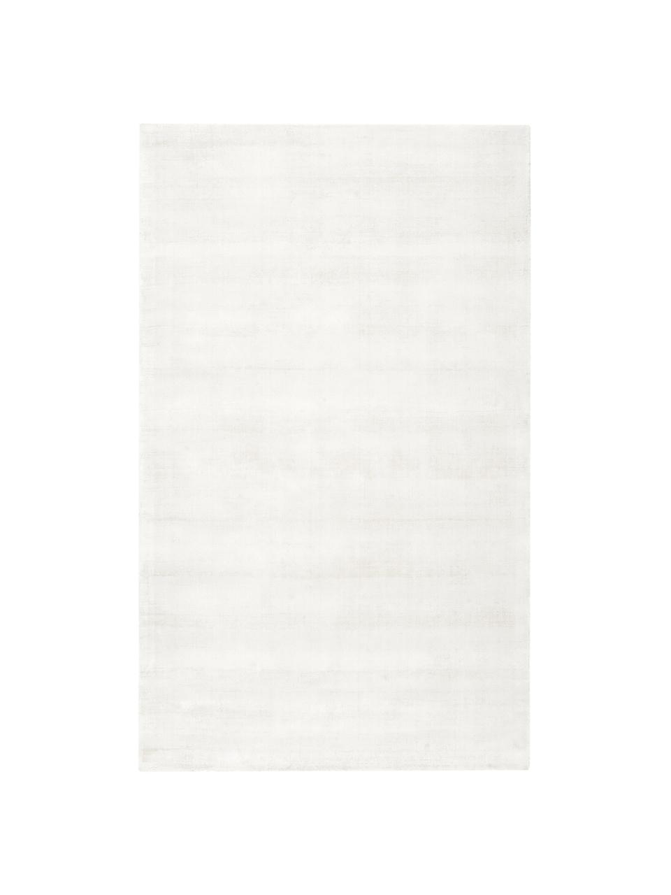Ručne tkaný koberec z viskózy Jane, Slonovinová kosť