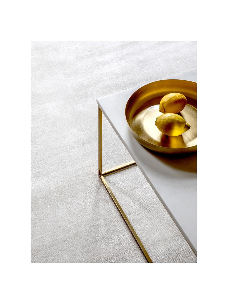 Ručně tkaný viskózový koberec Jane, Slonová kost