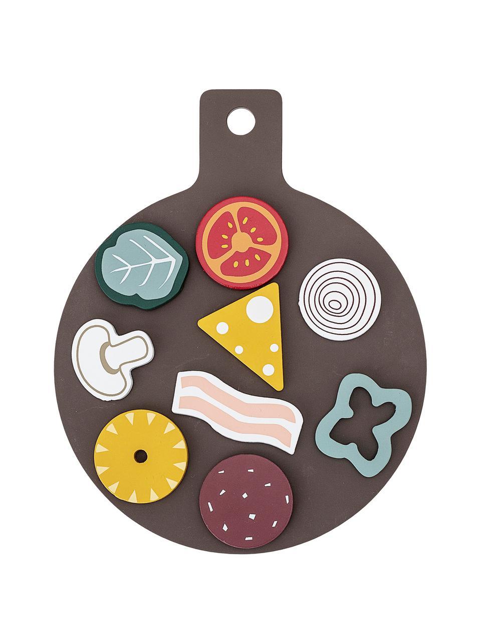 Spiel-Set Pizza, 15-tlg., Schichtholz, Birkenholz, Mehrfarbig, 20 x 3 cm