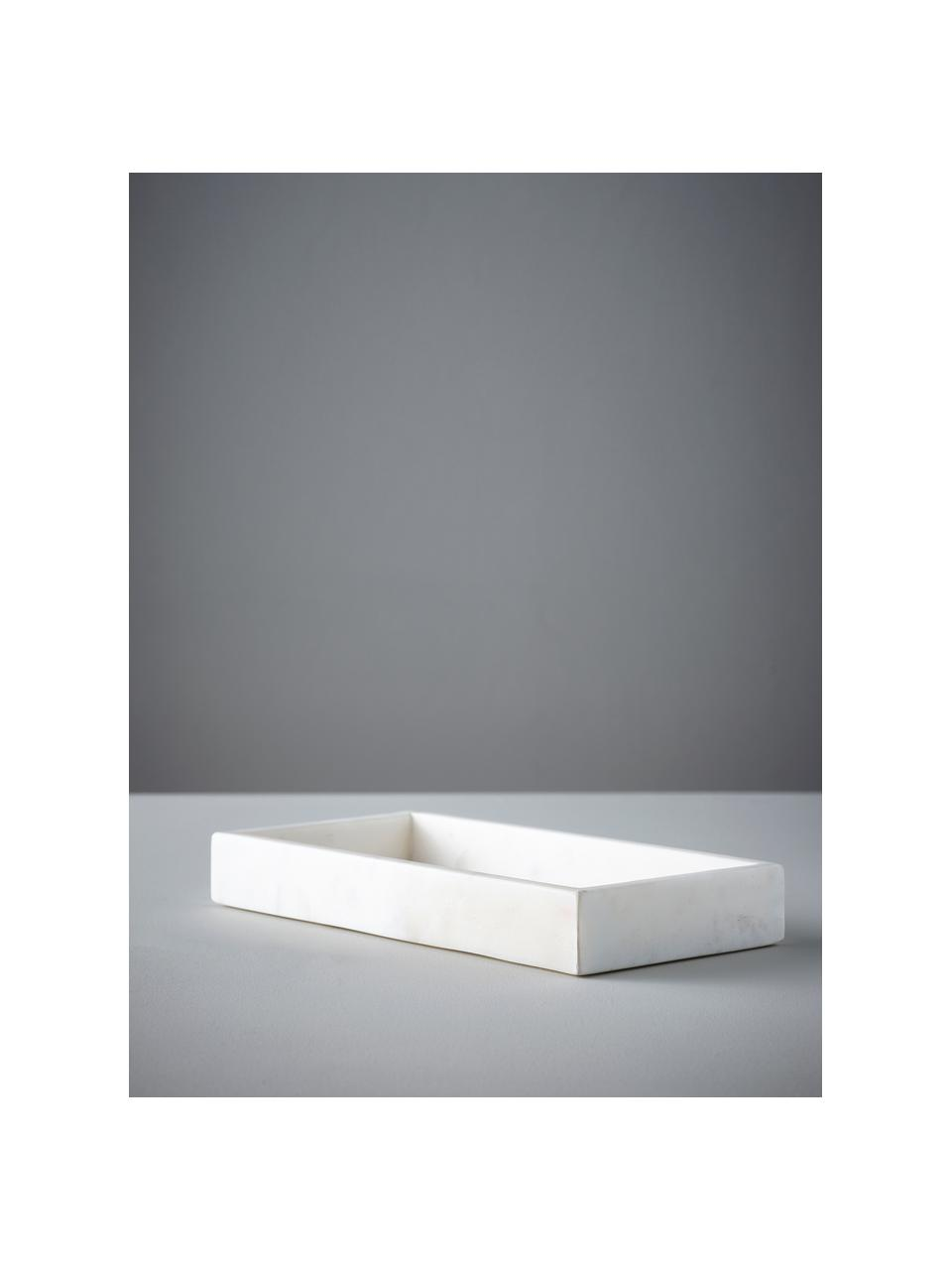 Deko-Tablett Bifrost, Marmor, Weiß, 30 x 4 cm