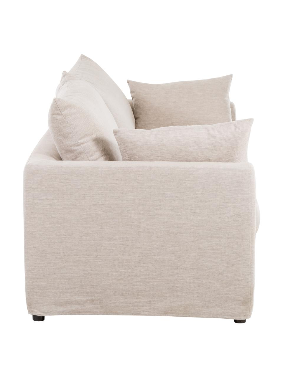Bank Zach (3-zits) in beige, Bekleding: polypropyleen, Poten: kunststof, Beige, B 231 x D 90 cm