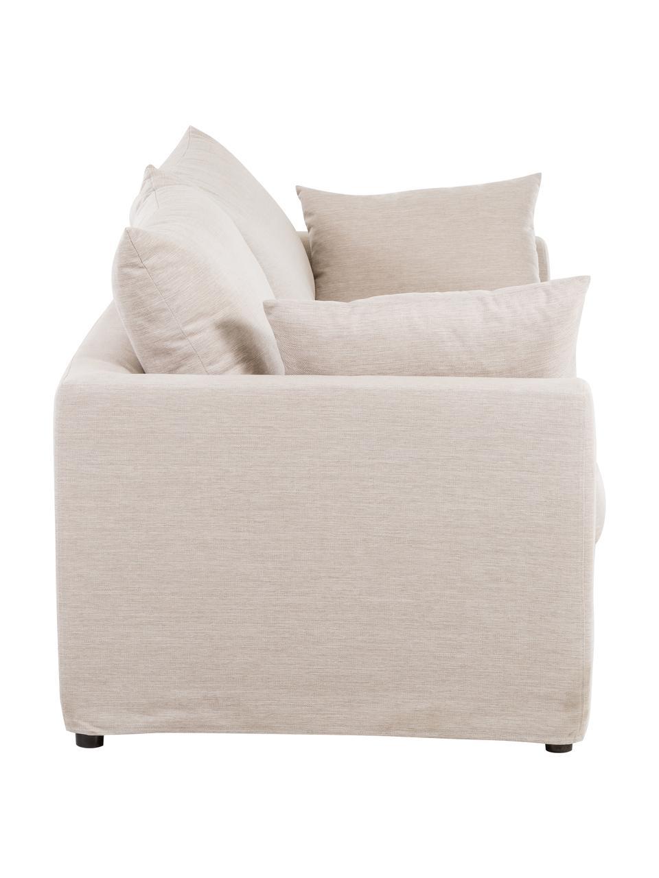 Sofa Zach (3-Sitzer) in Beige, Bezug: Polypropylen Der hochwert, Füße: Kunststoff, Webstoff Beige, B 231 x T 90 cm