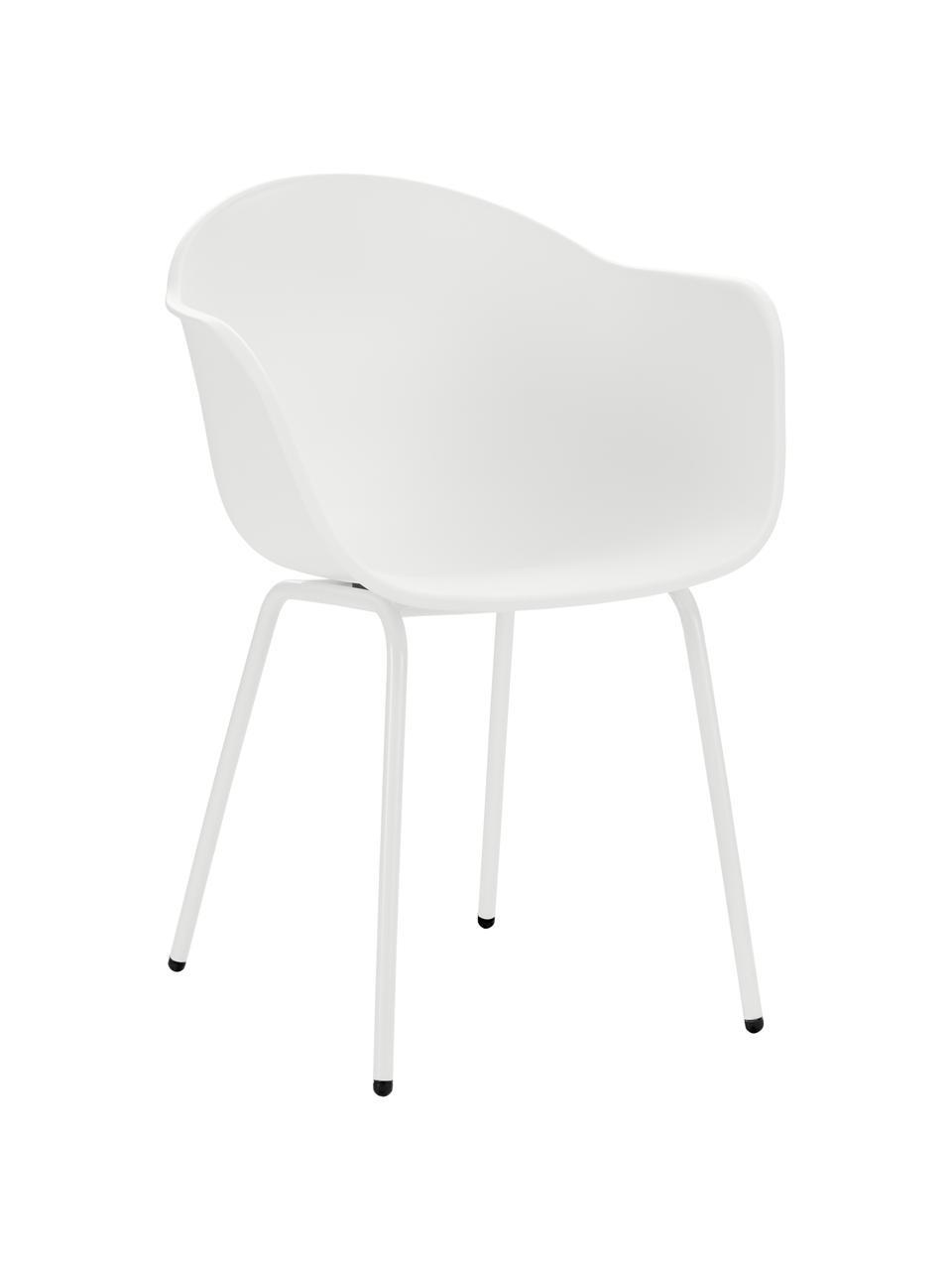 Krzesło ogrodowe Claire, Nogi: metal malowany proszkowo, Biały, S 60 x G 54 cm