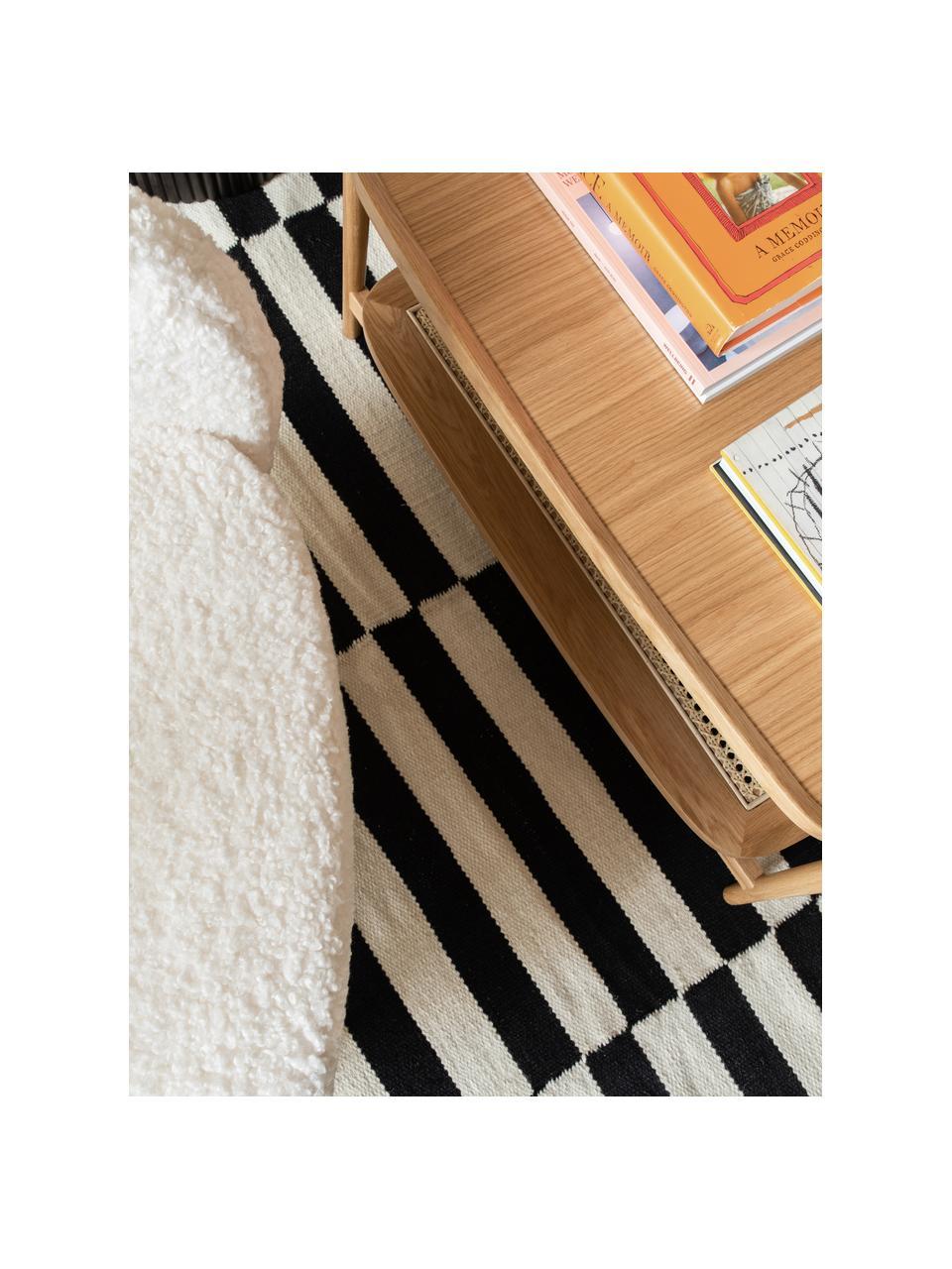 Ręcznie tkany dywan kilim Donna, Czarny, S 80 x D 150 cm (Rozmiar XS)