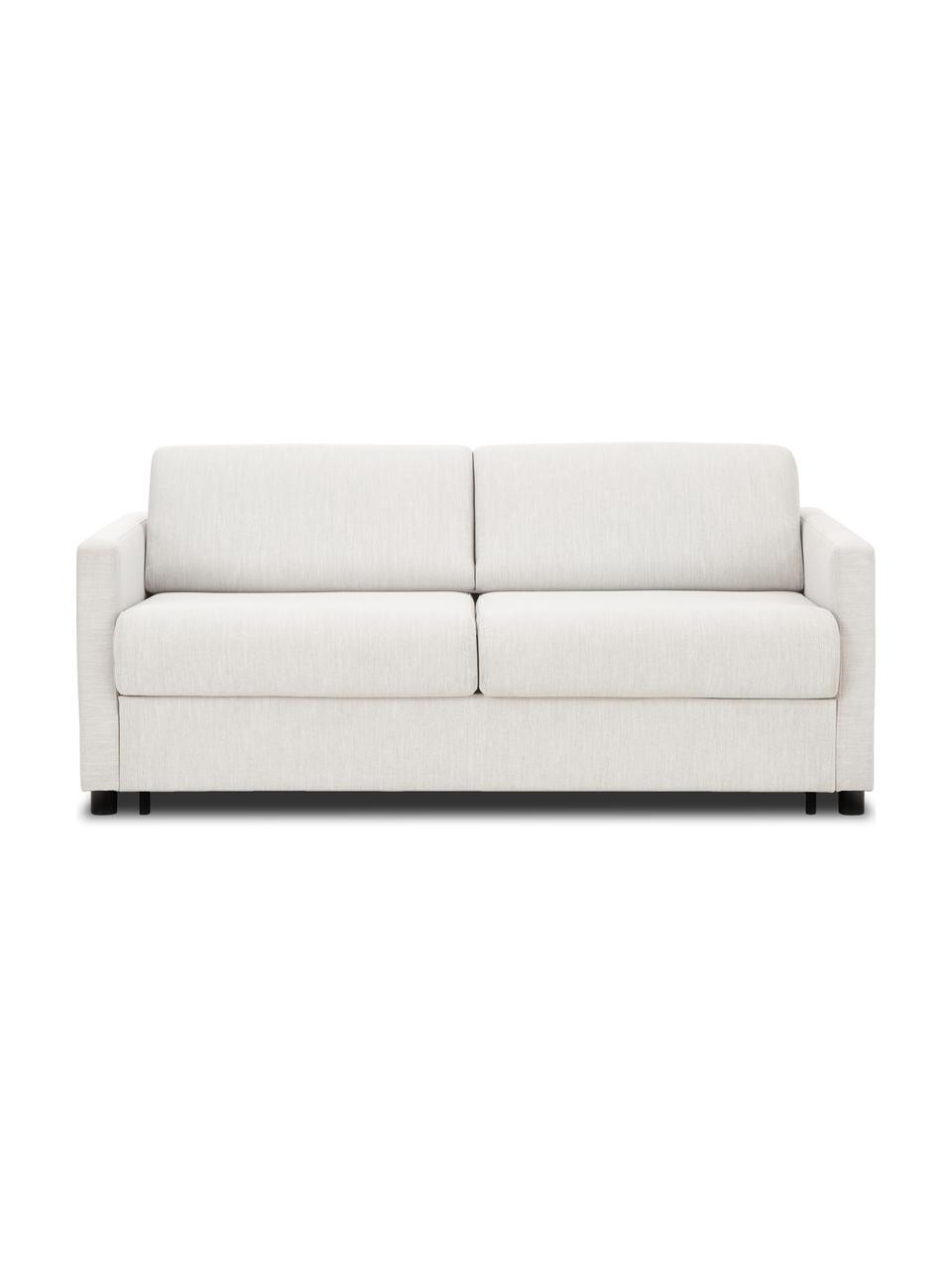 Slaapbank Morgan (2-zits) in beige, met matras, Bekleding: 100% polyester, Poten: massief grenenhout, gelak, Beige, 187 x 92 cm