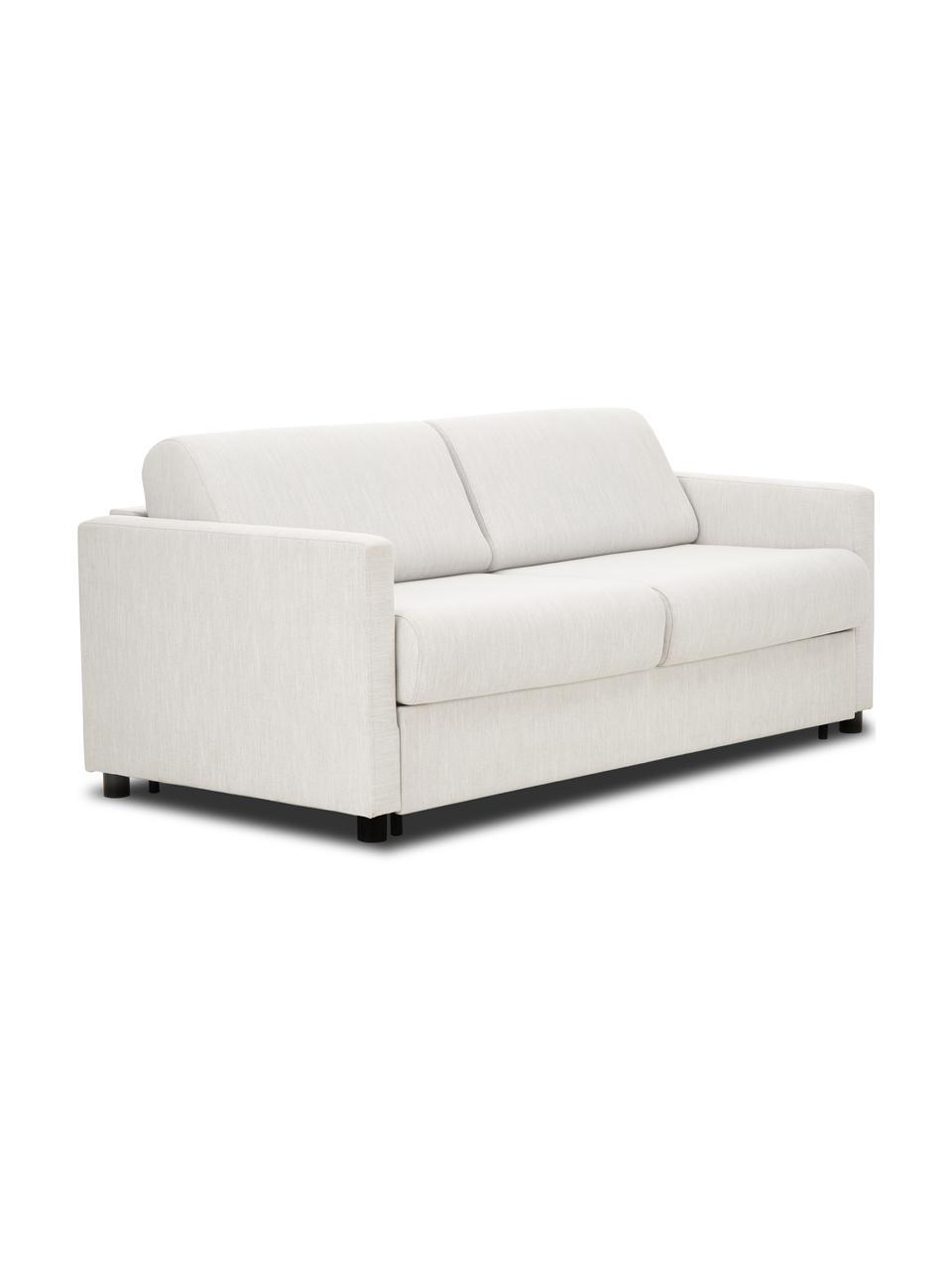 Schlafsofa Morgan (2-Sitzer) in Beige, mit Matratze, Bezug: 100% Polyester Der hochwe, Füße: Massives Kiefernholz, lac, Beige, B 187 x T 92 cm