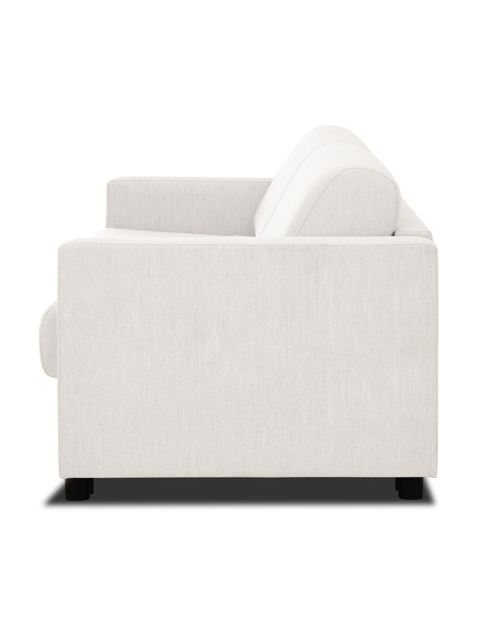 Canapé convertible 2 places tissu beige avec matelas Morgan, Tissu beige