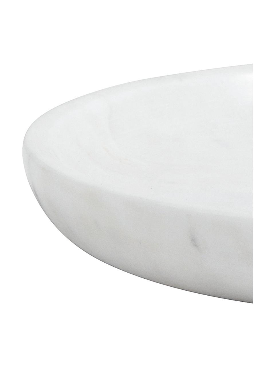 Vassoio decorativo in marmo Lorka, Marmo, Bianco, Ø 17 x Alt. 2 cm