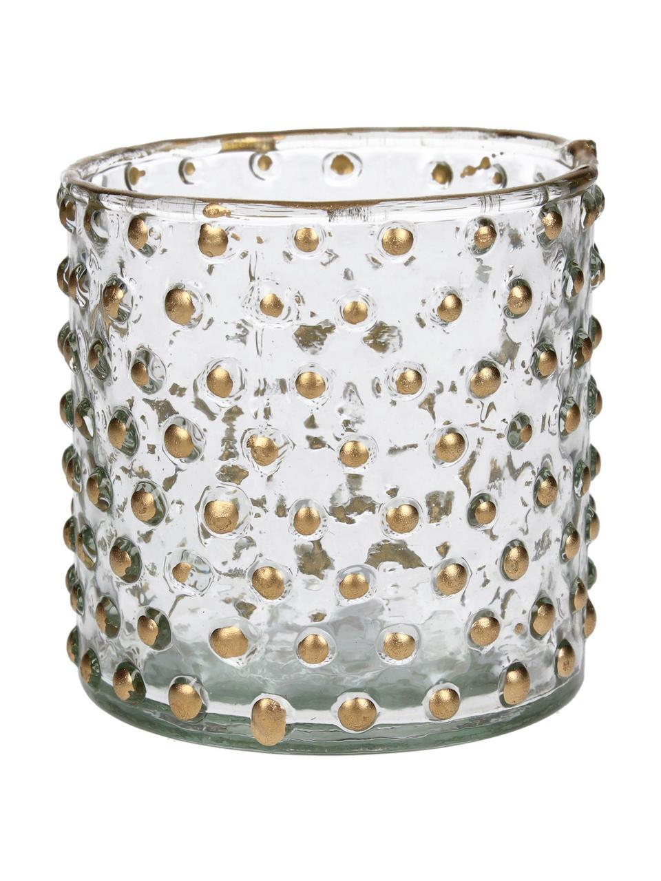Świecznik na podgrzewacze Goldma, Szkło lakierowane, Odcienie złotego, Ø 8 x W 8 cm