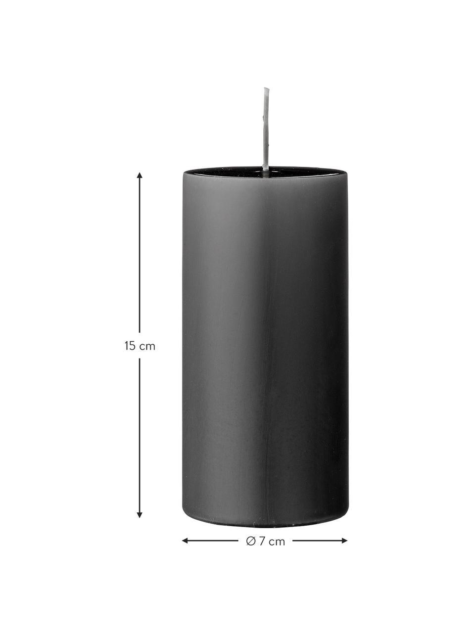 Stompkaarsen Lulu, 2 stuks, Was, Grijs, Ø 7 x H 15 cm