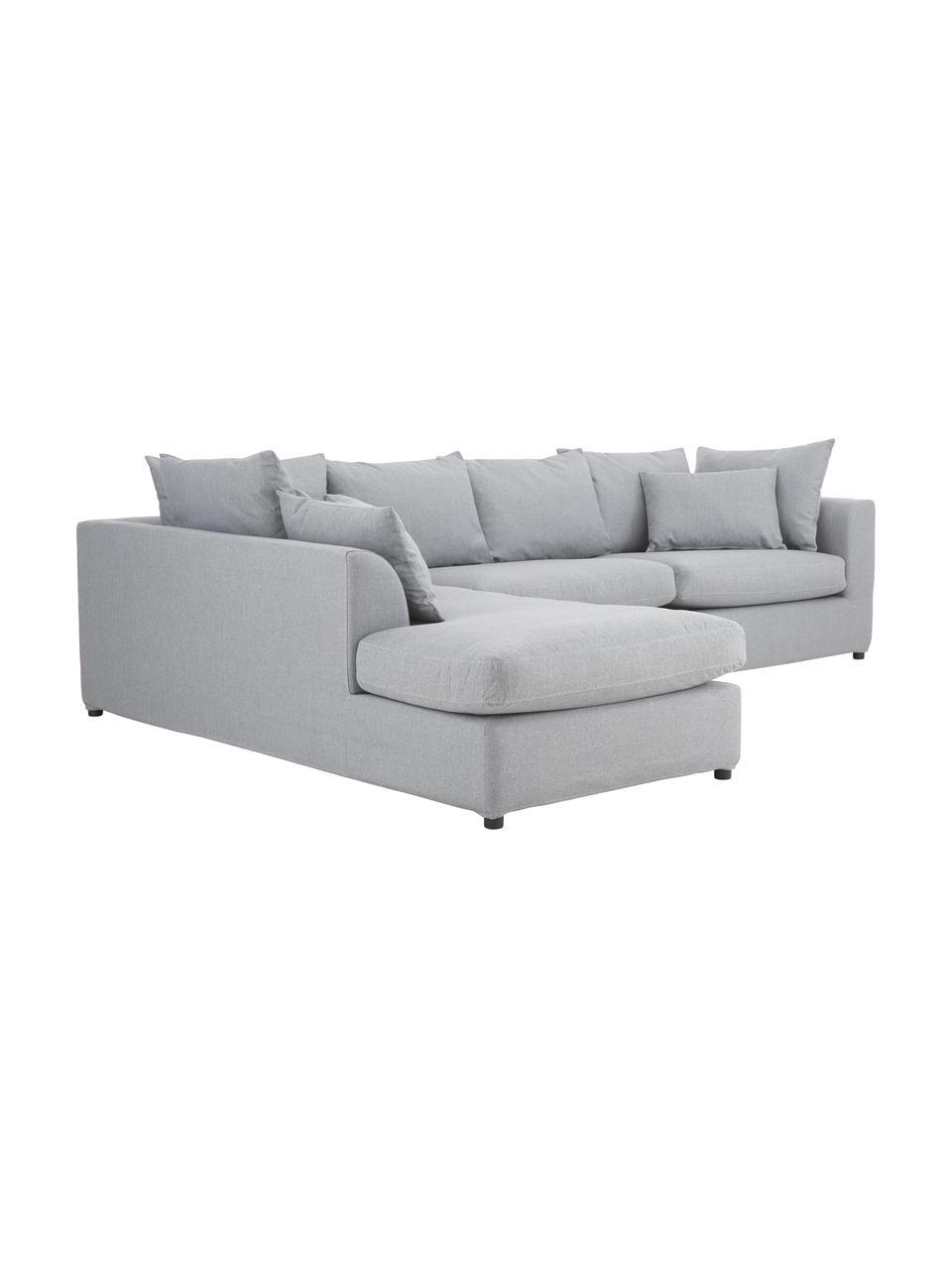 Sofa narożna Zach, Tapicerka: polipropylen Dzięki tkani, Nogi: tworzywo sztuczne, Szary, S 300 x G 213 cm