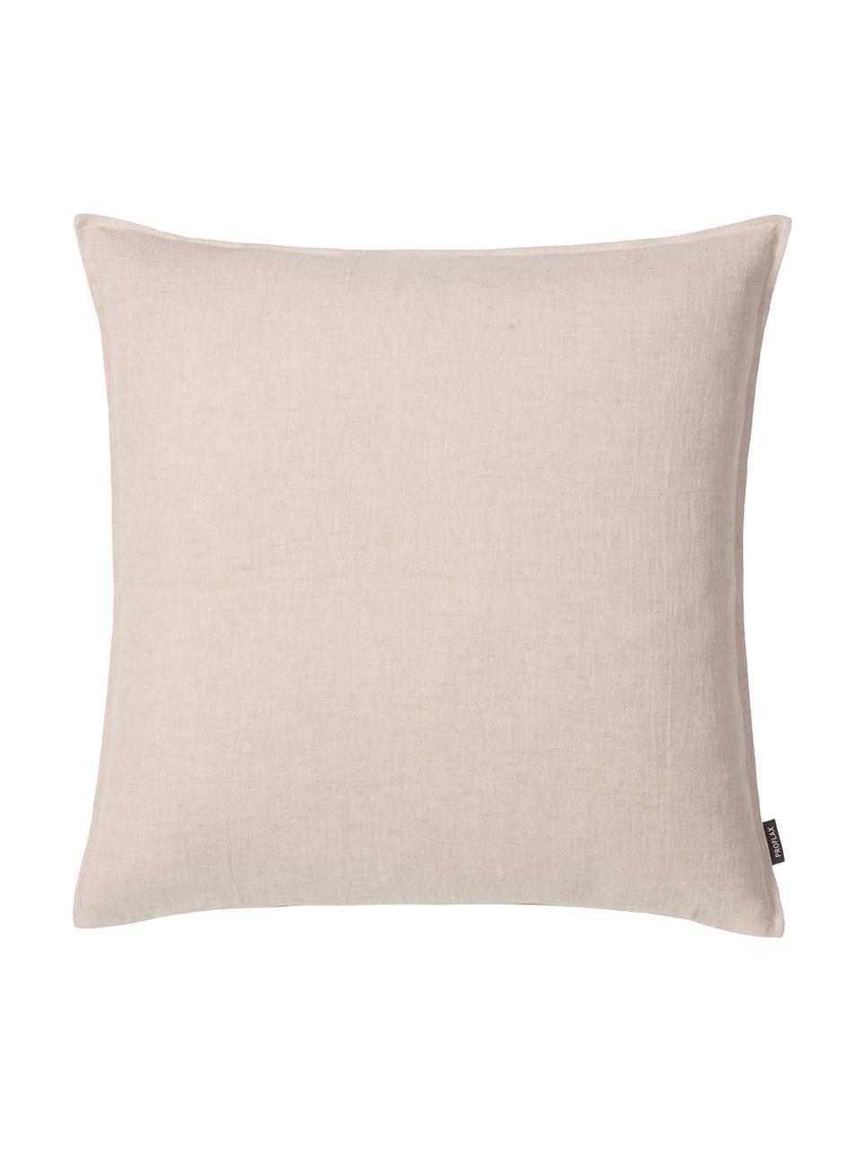 Federa arredo in lino lavato beige Sven, 100% lino, Beige, Larg. 40 x Lung. 40 cm