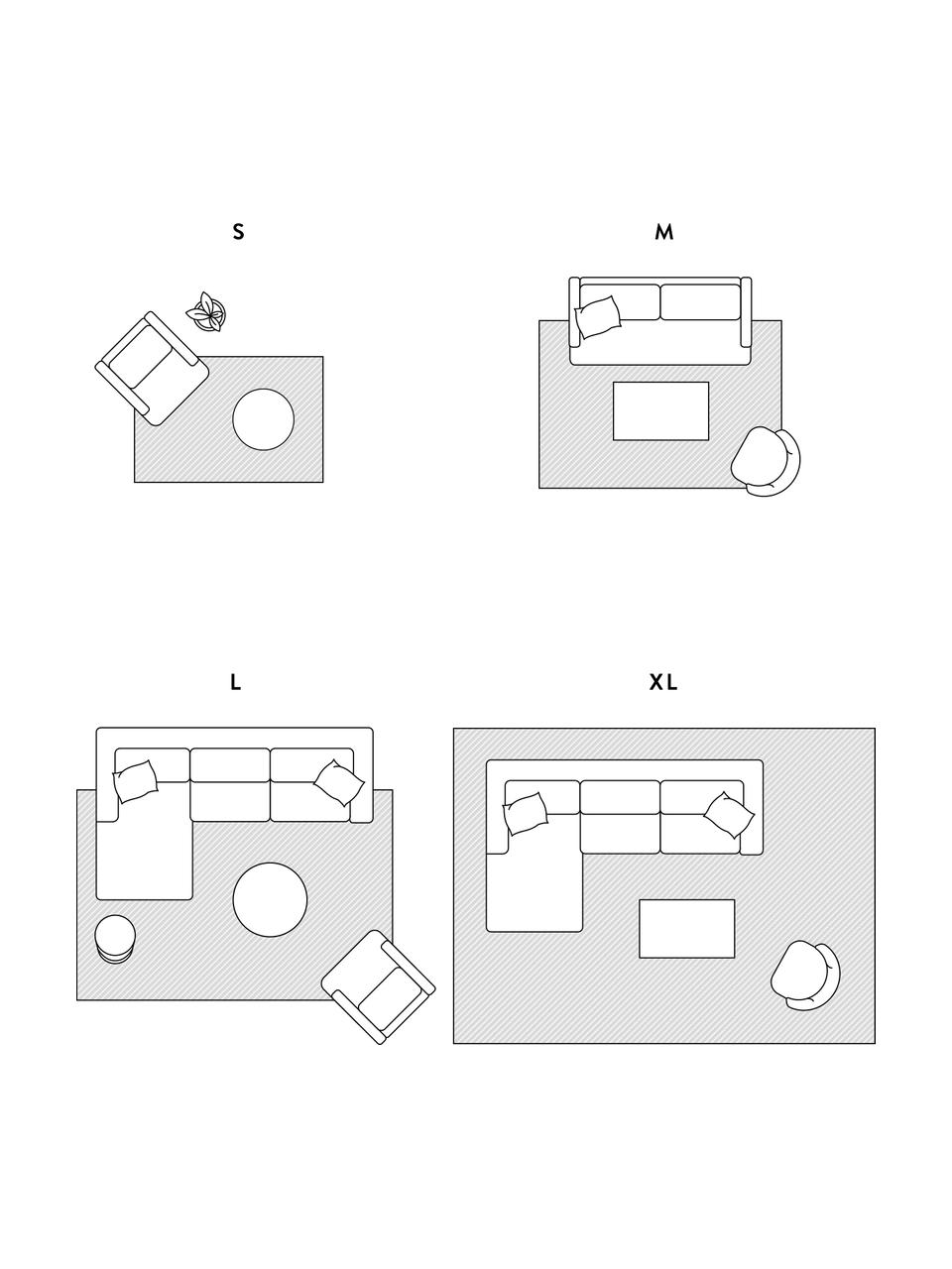 Hochflorteppich Mila in Beige/Grau mit grafischem Muster, 100% Polypropylen, Beige, Grau, B 80 x L 150 cm (Größe XS)