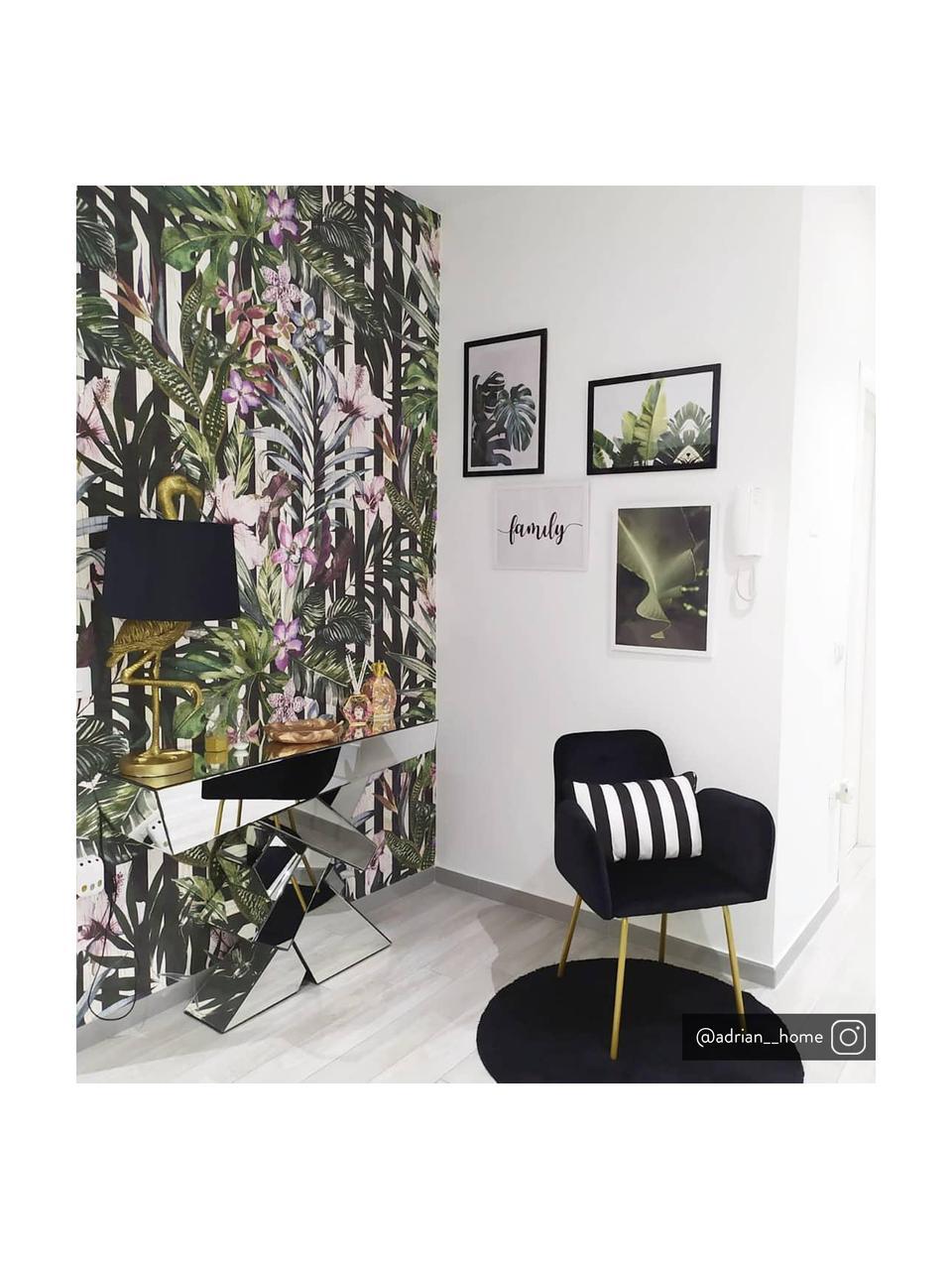 Gestreifte Kissenhülle Timon in Schwarz/Weiß, 100% Baumwolle, Schwarz, Weiß, 30 x 50 cm