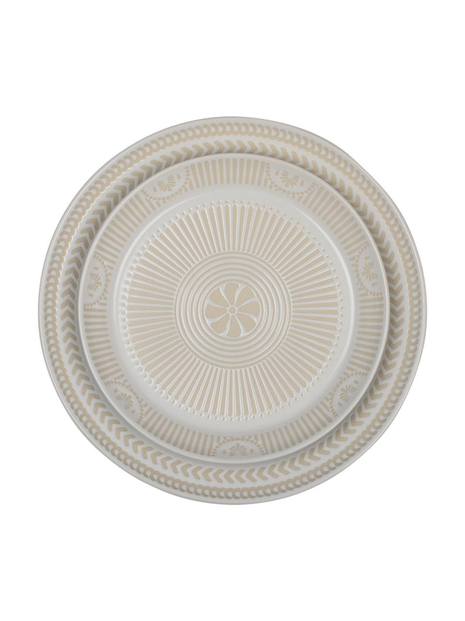 Talerz do ciasta z porcelany Sonia, 2 szt., Porcelana, Biały, Ø 22 cm
