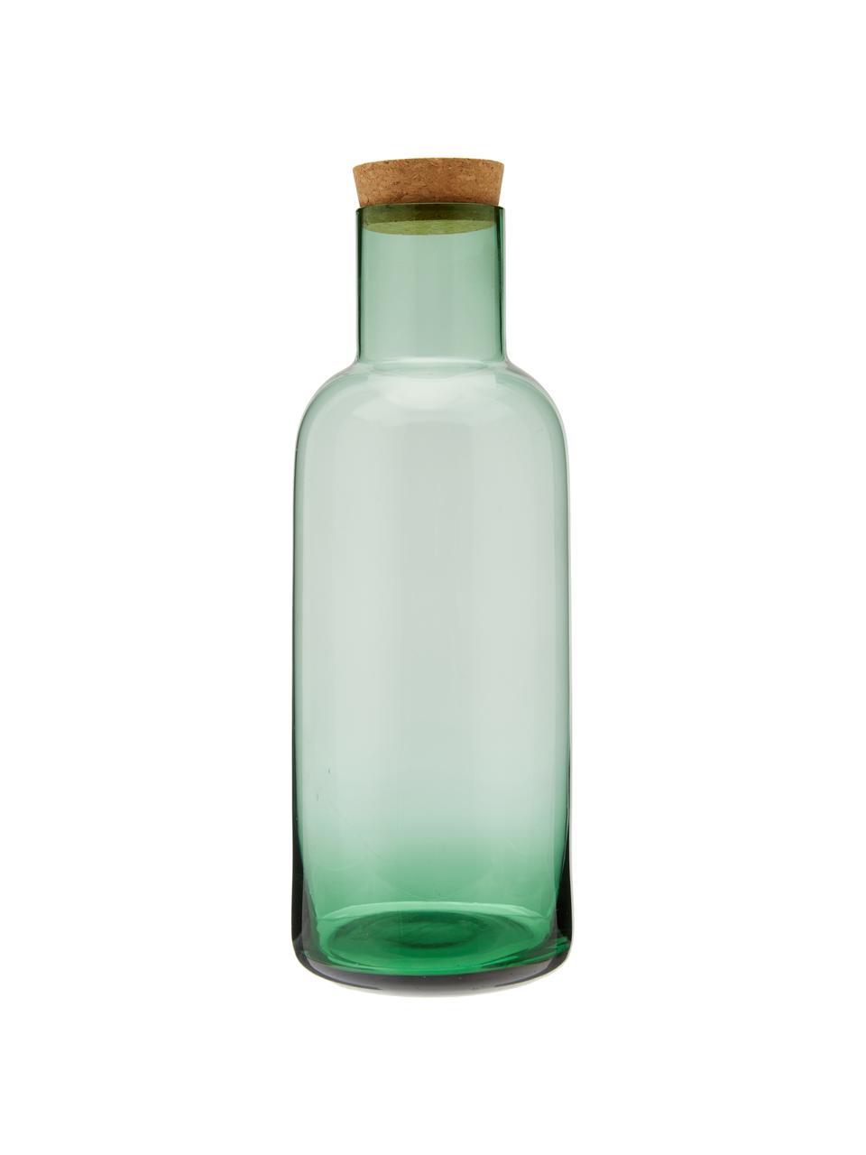 Carafe verre avec bouchon Clearance, 1l, Vert, transparent