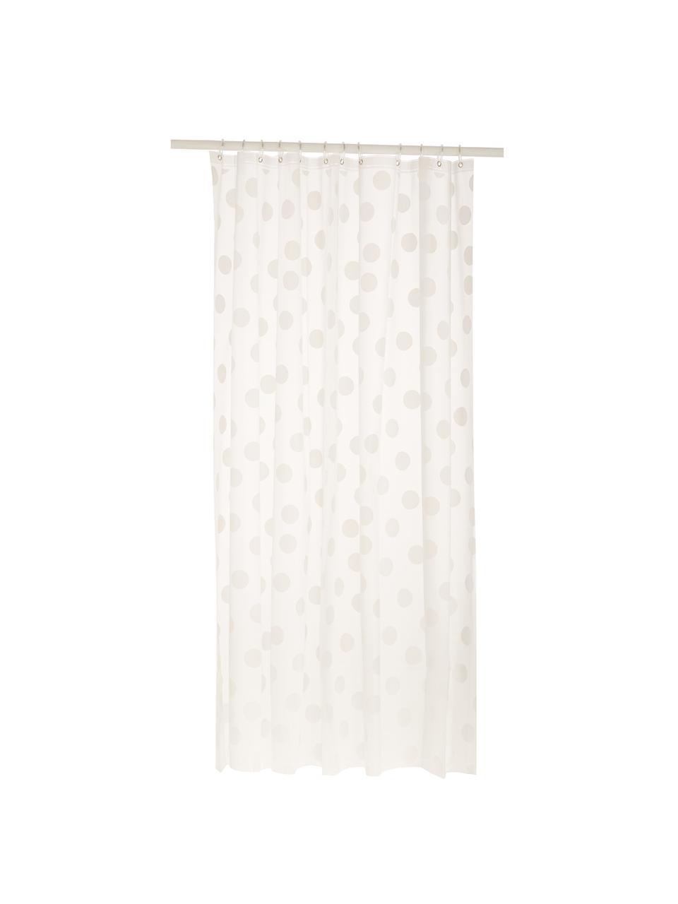 Krátký sprchový závěs spuntíky Golf, Bílá, šedá
