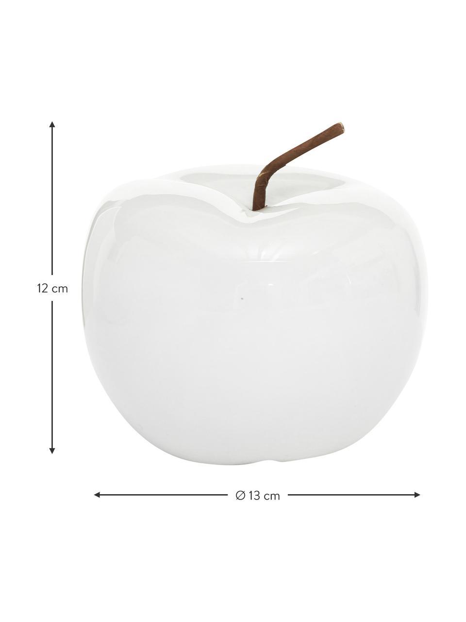 Pommes décoratives Alvaro, 2pièces, Blanc, brun