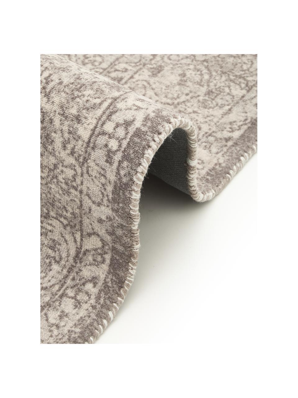 Läufer Elegant im Vintage Style, Flor: 100% Nylon, Grau, 80 x 250 cm