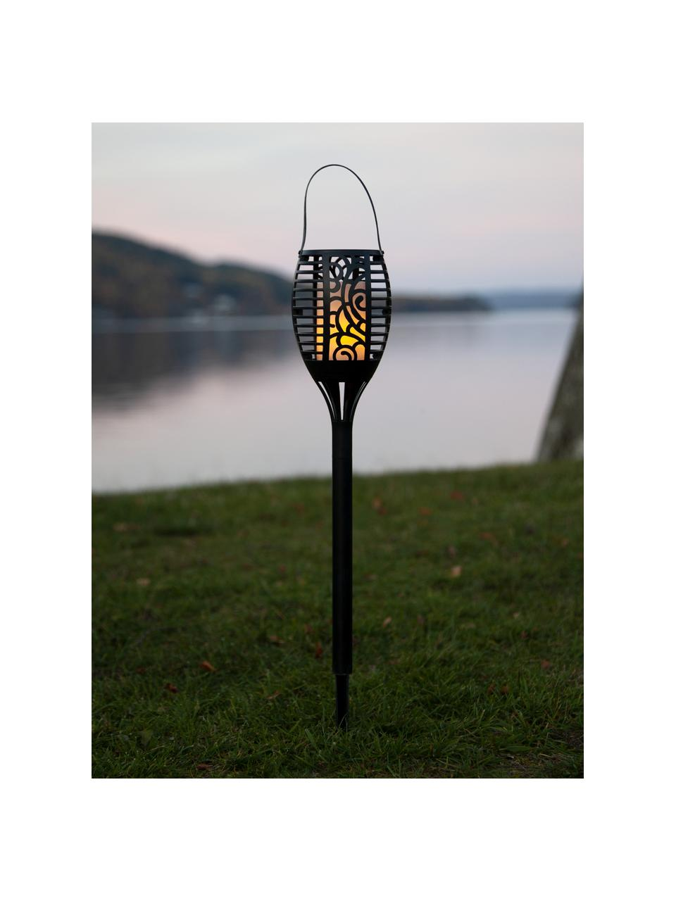 Zewnętrzna lampa solarna Flame, Czarny, Ø 10 x W 42 cm