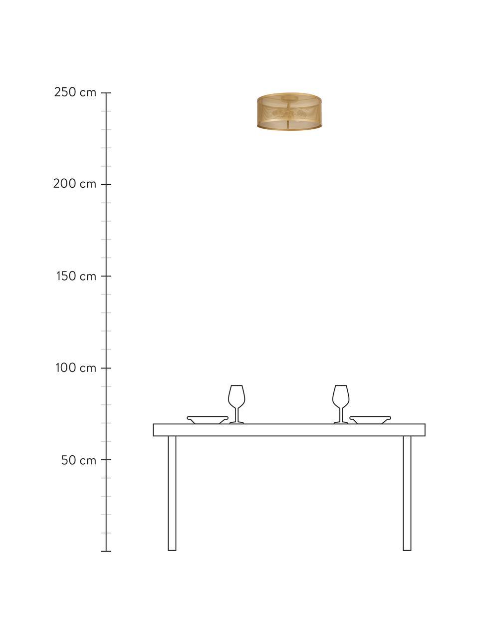 Lampa sufitowa z metalu Goldy, Odcienie złotego, Ø 45 x W 21 cm