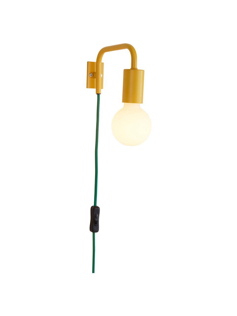 Wandleuchte Cascais, Lampenschirm: Metall, beschichtet, Gelb, 20 x 12 cm