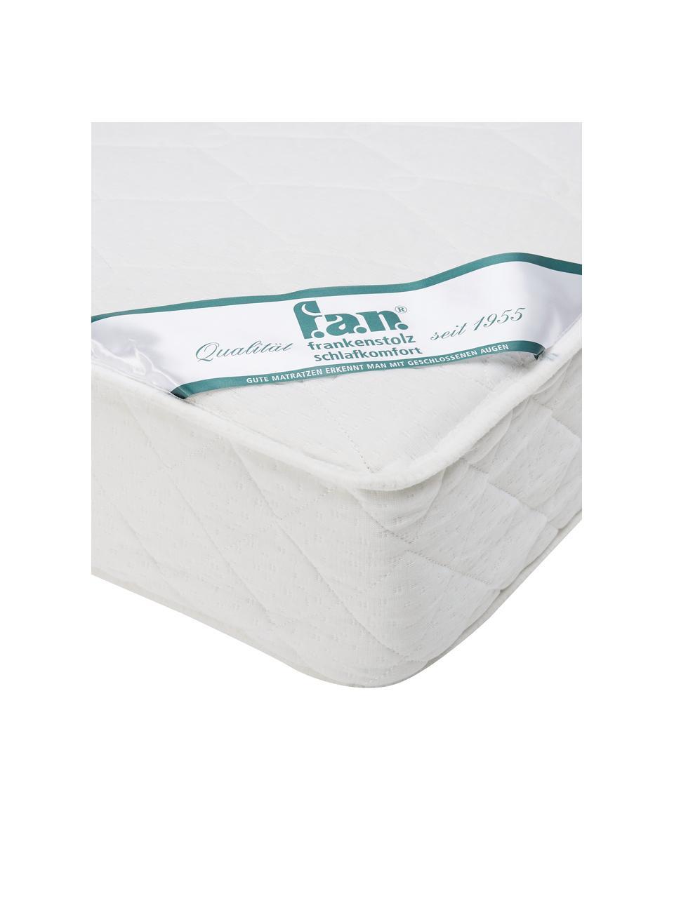 Materac sprężynowo-kieszeniowy Happy, Tapicerka: podwójny jersey (100% pol, Biały, S 140 x D 200 cm