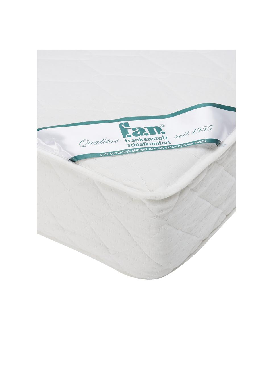 Materasso a molle insacchettate a 7 zone Happy, Rivestimento: doppio jersey (100% polie, Bianco, 140 x 200 cm