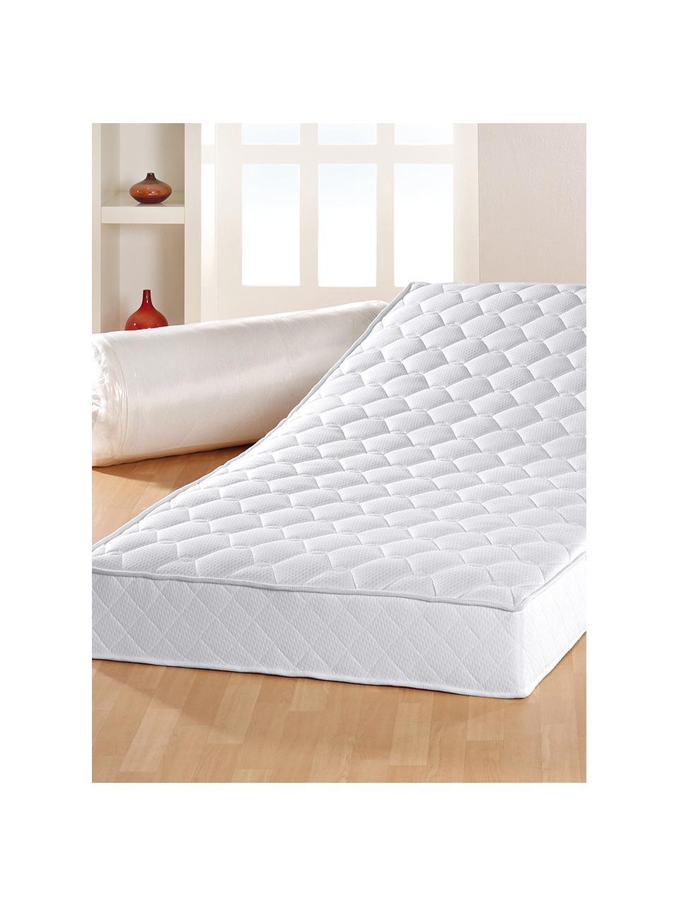 Pocketvering matras Happy, Onderzijde: ongeveer 200 g/m² klimaat, Wit, 140 x 200 cm