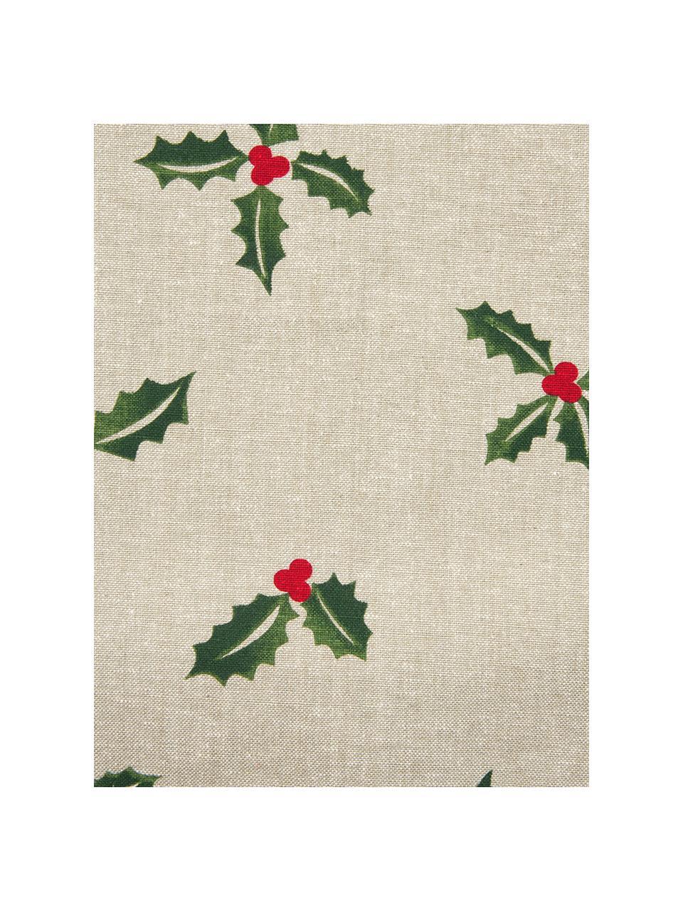 Poszewka na poduszkę Berry, Bawełna, Beżowy, zielony, S 45 x D 45 cm