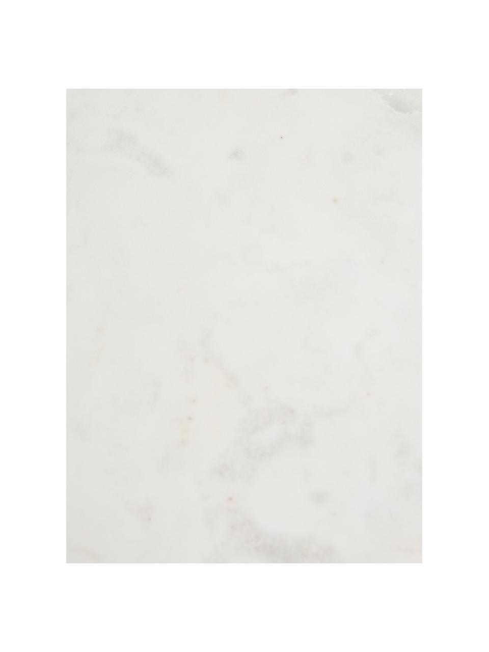 Półka ścienna z marmuru Porter, Mocowanie ścienne: odcienie złotego, regał: biały, marmurowy, S 60 x W 24 cm