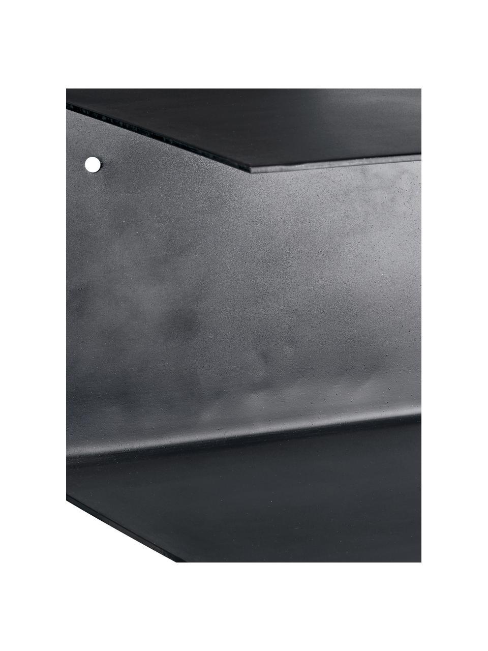 Półka ścienna z metalu Phantom, 2 szt., Metal lakierowany, Czarny, S 30 x W 15 cm