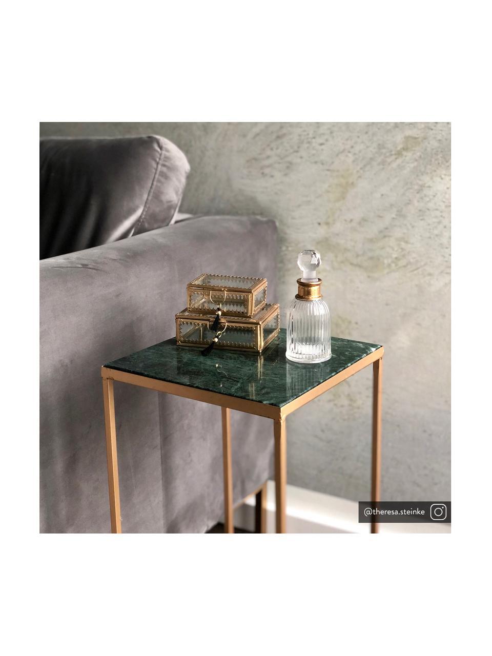 Flacon décoratif Rotira, Transparent, couleur dorée