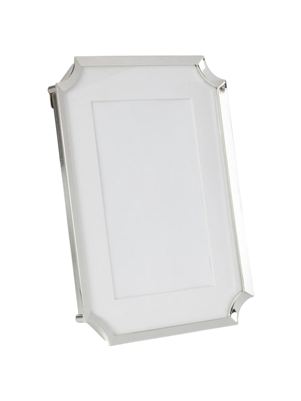 Bilderrahmen Austin, Metall, Glas, Silberfarben, Weiß, 10 x 15 cm