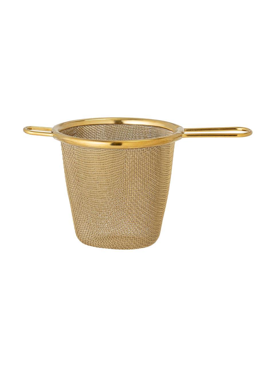 Sitko do herbaty Kronos, Stal szlachetna powlekana, Odcienie mosiądzu, S 14 x W 7 cm