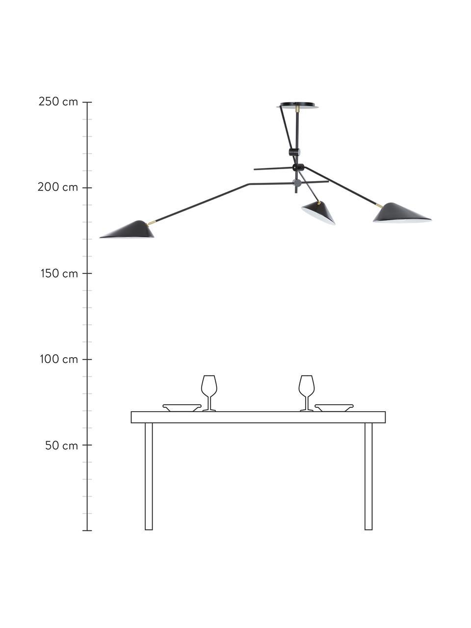 Lampa sufitowa Neron, Czarny, S 173 x W 52 cm