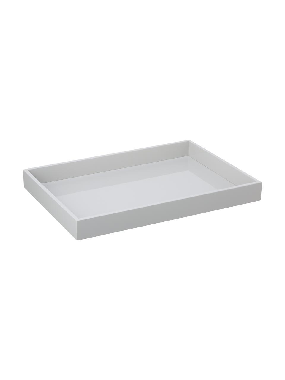 Vysoce lesklý tác Hayley, D 50 x Š 35 cm, Světle šedá Spodní strana: světle šedá