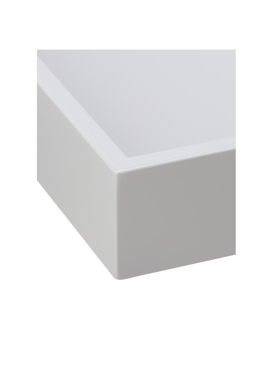 Taca z wysokim połyskiem Hayley, Jasnoszary, spód: jasny szary, D 50 x S 35 cm