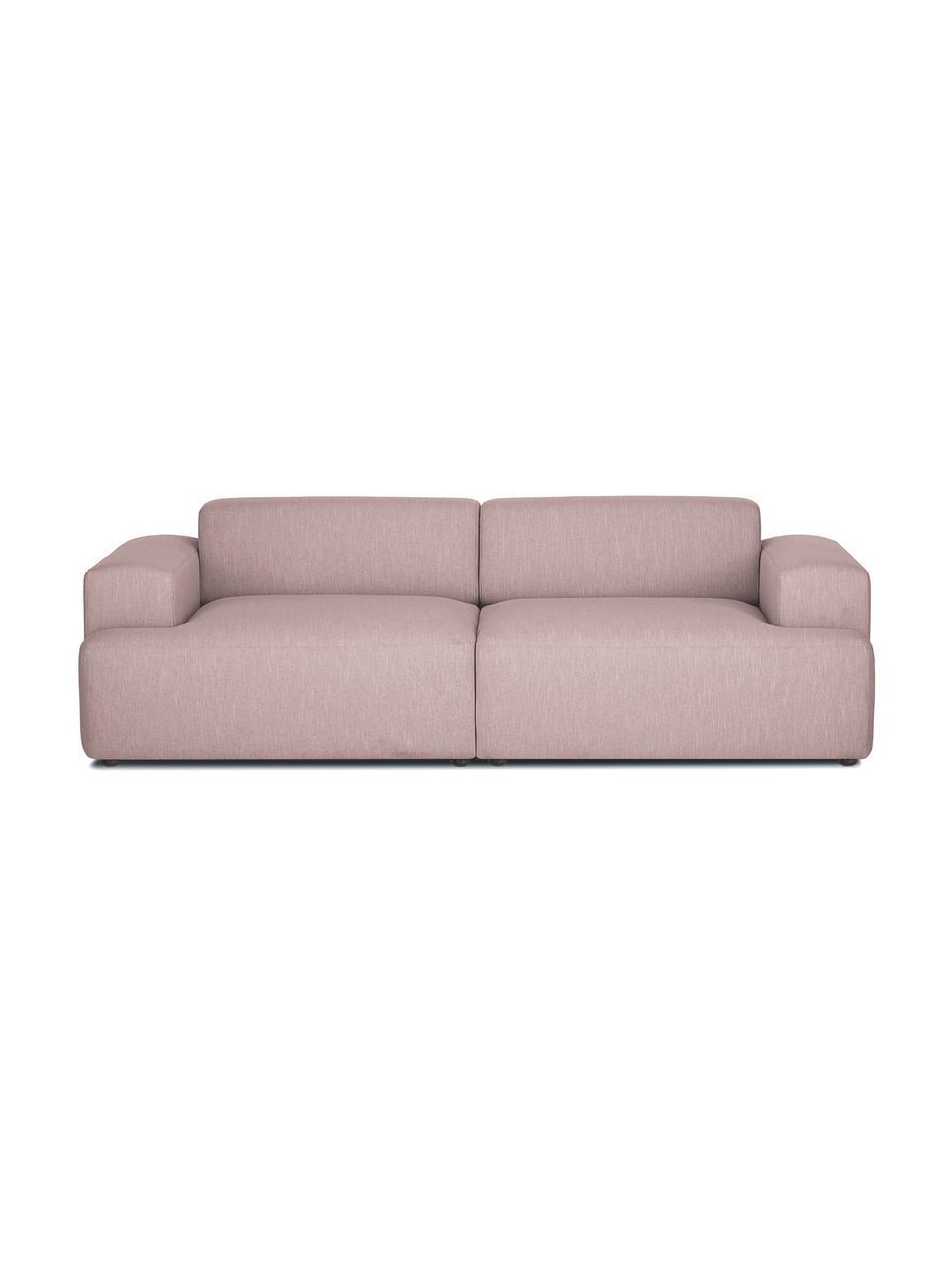 Divano a 3 posti in tessuto rosa Melva, Rivestimento: 100% poliestre Il rivesti, Struttura: pino massiccio, certifica, Tessuto rosa, Larg. 238 x Alt. 101 cm