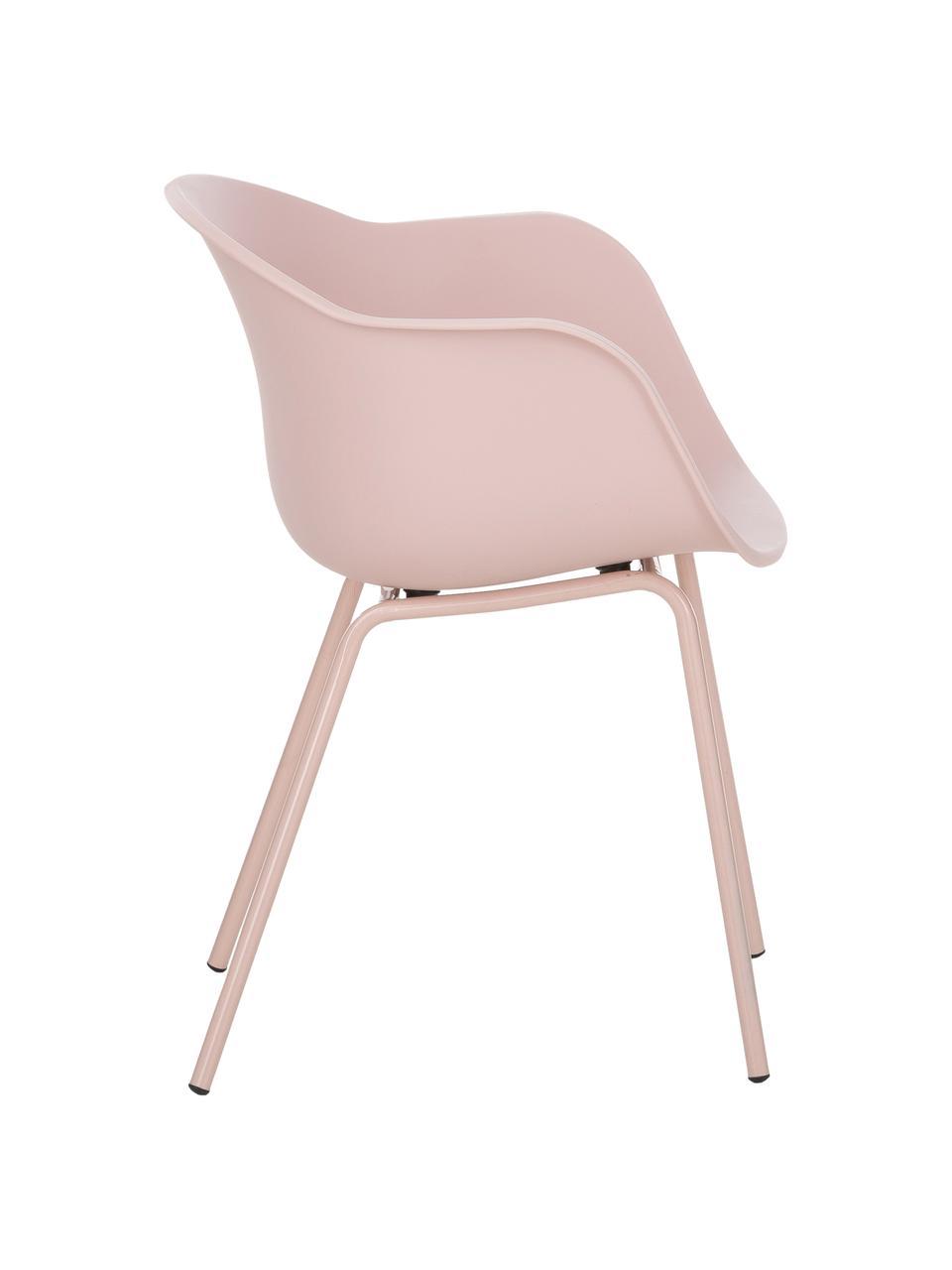 Chaise scandinave plastique Claire, Rose