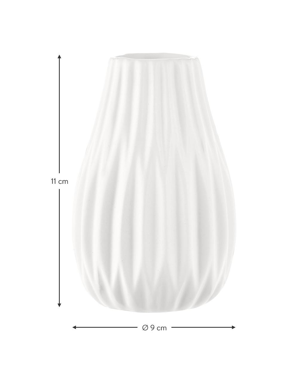 Set 3 vasi decorativi in gres Wilma, Gres, Blu, nero, bianco, Set in varie misure