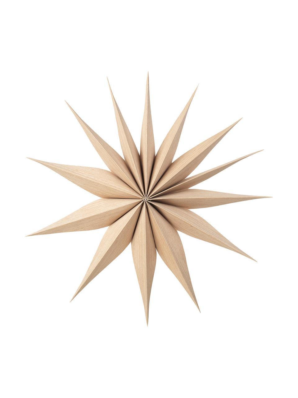 Decoratieve sterren Venice van hout, 2 stuks, Populierenhout, Lichtbruin, Ø 40 cm
