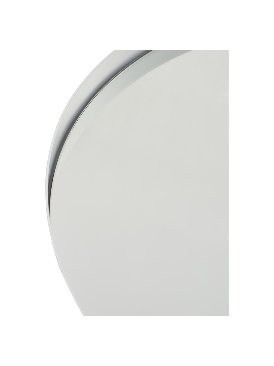 Ronde wandspiegel Ivy met witte lijst, Lijst: gepoedercoat metaal, Wit, Ø 55 cm