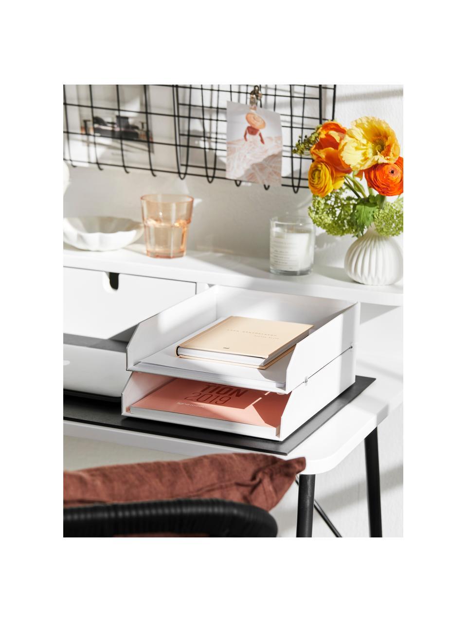 Dokumenten-Ablagen Hakan, 2 Stück, Fester, laminierter Karton, Weiß, B 23 x T 31 cm