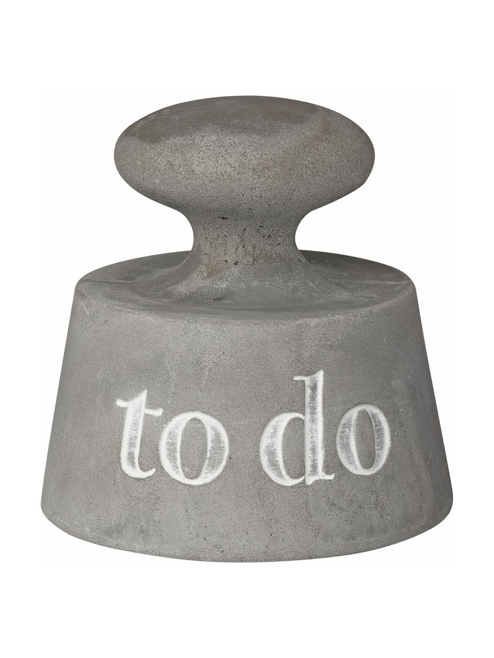 Briefbeschwerer To Do, Beton, Grau, Ø 8 x H 8 cm