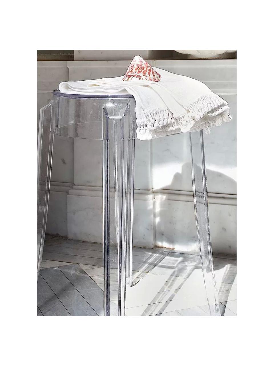 Stołek Ghost, Poliwęglan, Transparentny, Ø 39 x W 46 cm