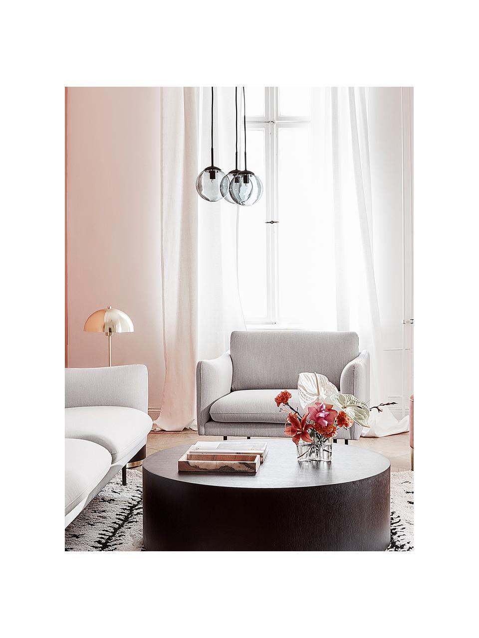 Lámpara de techo cluster Edie, Anclaje: metal con pintura en polv, Cable: cubierto en tela, Gris, negro, An 30 x F 30 cm