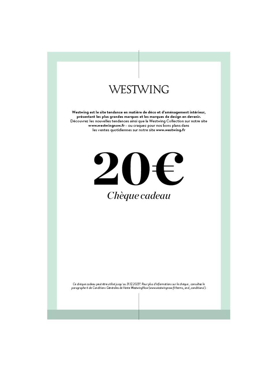 Chèque cadeau à imprimer, Turquoise