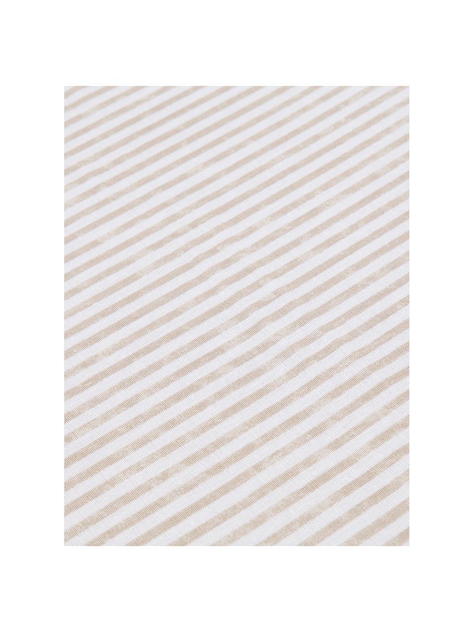 Set lenzuola in cotone Grady, Tessuto: Renforcé Renforcé è reali, Beige, bianco, 290 x 240 cm + 2 federe 50 x 80 + lenzuola 170 x 200 cm